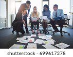 group of diverse businesspeople ... | Shutterstock . vector #699617278