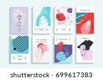 collection of creative... | Shutterstock .eps vector #699617383