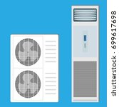 air conditioner system  two... | Shutterstock .eps vector #699617698