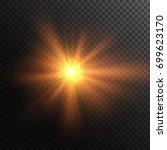 star explosion. burning sun....   Shutterstock .eps vector #699623170