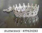 jewelry crown earrings | Shutterstock . vector #699624283