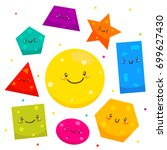 cute shapes  square  circle ... | Shutterstock .eps vector #699627430
