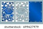 heart  rose  vector  flower... | Shutterstock .eps vector #699627979