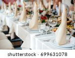 wonderfully decorated festive... | Shutterstock . vector #699631078