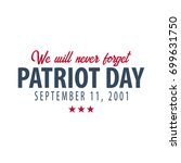 patriot day emblems or logo.... | Shutterstock .eps vector #699631750