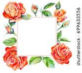 Wildflower Rose Flower Frame In ...