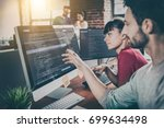 developing programming and... | Shutterstock . vector #699634498
