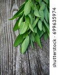 sage on wooden surface | Shutterstock . vector #699635974