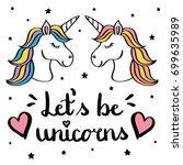 Let's Be Unicorns Hand Writing...