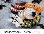 Fruit Halloween Treats. Banana...