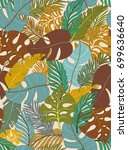 tropical seamless pattern with... | Shutterstock .eps vector #699636640