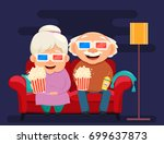 grandparents day greeting card. ... | Shutterstock .eps vector #699637873