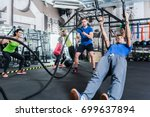 men and women at functional... | Shutterstock . vector #699637894