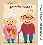 grandparents day greeting card. ... | Shutterstock .eps vector #699637978
