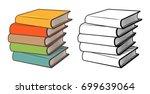 stacks of books. stylized... | Shutterstock .eps vector #699639064