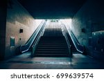 exit with escalator from the... | Shutterstock . vector #699639574