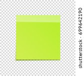 sticky note with shadow... | Shutterstock .eps vector #699642190