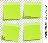 sticky note with shadow... | Shutterstock .eps vector #699642364