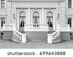 exterior detail of an old neo... | Shutterstock . vector #699643888
