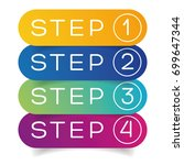 one two three four steps... | Shutterstock .eps vector #699647344