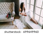 Woman By The Window. Bride...