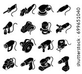 electric tools icons set.... | Shutterstock .eps vector #699651040