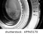 Vintage Reflex Camera Lens Angle Perspective - stock photo