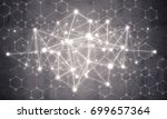 background image with social... | Shutterstock . vector #699657364