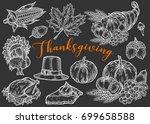 thanksgiving autumn festival...   Shutterstock .eps vector #699658588