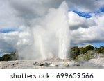 pohutu geyser in te puia...   Shutterstock . vector #699659566