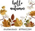 hello autumn.hand drawn vector... | Shutterstock .eps vector #699661264