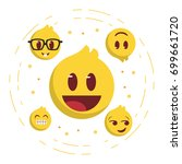 five emoticon set