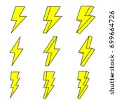 thunder  thunder vector   Shutterstock .eps vector #699664726