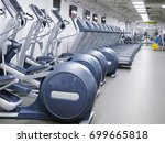 fitness equipment in a fitness... | Shutterstock . vector #699665818