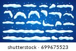 set of snowdrifts with... | Shutterstock .eps vector #699675523