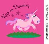 cute unicorn isolated set ... | Shutterstock .eps vector #699676078