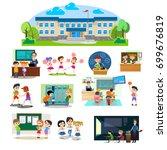 back to school set of... | Shutterstock .eps vector #699676819