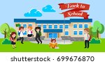 back to school concept for... | Shutterstock .eps vector #699676870