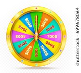 realistic retro gold game wheel.... | Shutterstock .eps vector #699678064