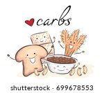 illustration of carbohydrate... | Shutterstock .eps vector #699678553