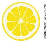lemon slice   isolated | Shutterstock .eps vector #699678790