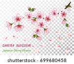 blooming branch vector with... | Shutterstock .eps vector #699680458