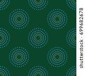 seamless circle dots green...   Shutterstock .eps vector #699682678