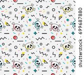 colorful seamless pattern with...   Shutterstock .eps vector #699687880