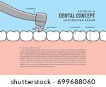 layout decay tooth treatment ... | Shutterstock .eps vector #699688060