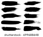collection of artistic grungy... | Shutterstock . vector #699688648
