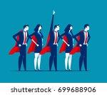 super team of business.... | Shutterstock .eps vector #699688906