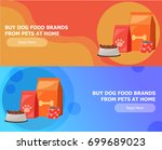 two banners for animal feed.... | Shutterstock .eps vector #699689023