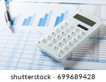 accounting concept  pen ... | Shutterstock . vector #699689428