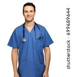 male nurse isolated on white | Shutterstock . vector #699689644